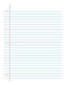 Notebook Paper 2-  Handwriting, Penmanship, Cursive, Worksheet