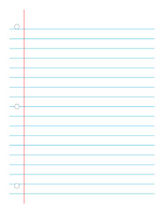 Notebook Paper Wide-  Handwriting, Penmanship, Cursive, Worksheet