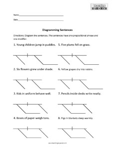 Sentence Diagramming Worksheets - Teaching Squared
