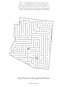 fun arizona maze game top worksheets