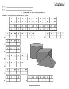 Codebreakers: 3D Geometry top fun activity