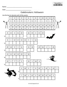 Codebreakers: Halloween top fun activity