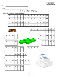 Codebreakers: Money top fun activity
