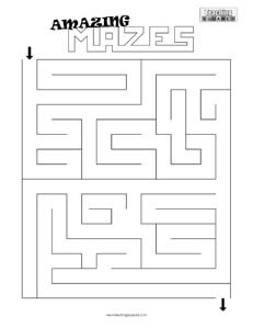 maze game top worksheets