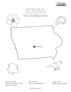United states coloring pages teaching squared for Iowa coloring pages