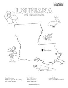 fun Louisiana coloring page for kids