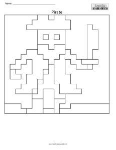 Pirate- Free Coloring Pages