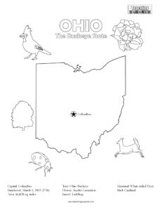 fun Ohio United States coloring page for kids