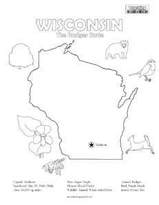 fun wisconsin united states coloring page for kids