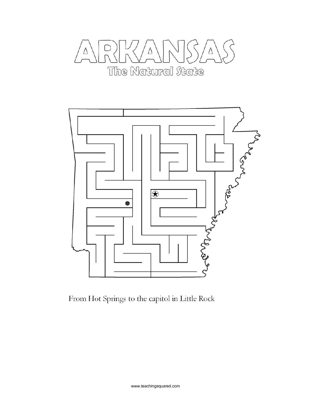 fun Alaska maze game top worksheets
