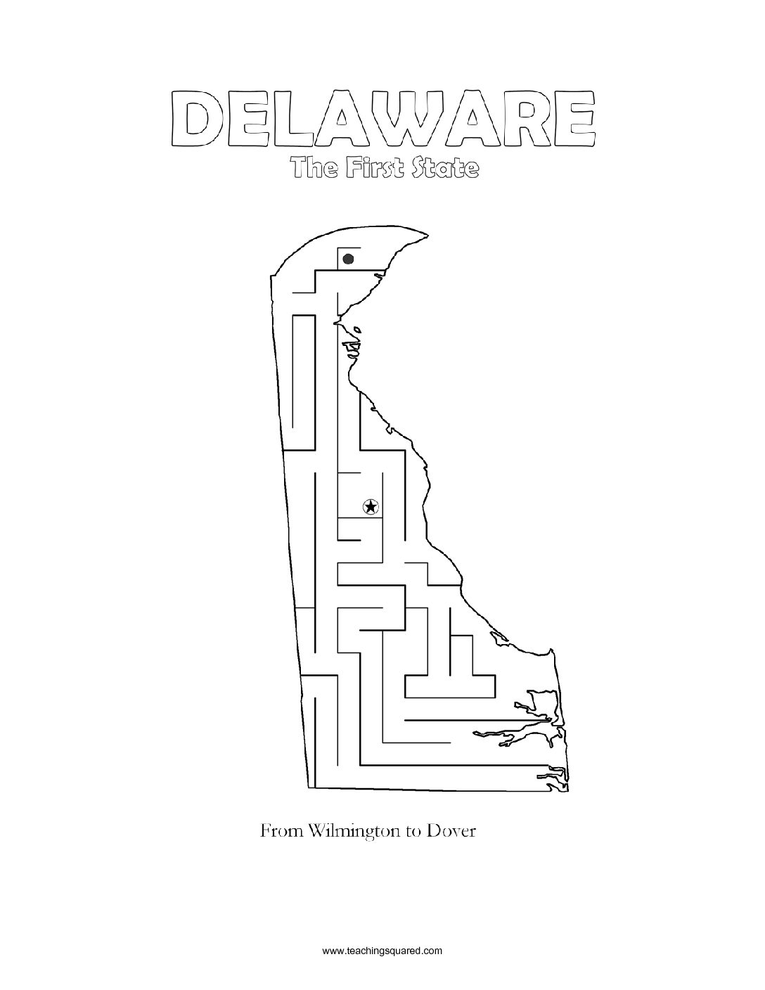 fun Delaware maze game top worksheets