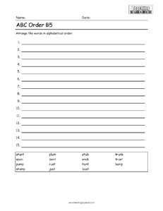 ABC Order Alphabetical Order and practice