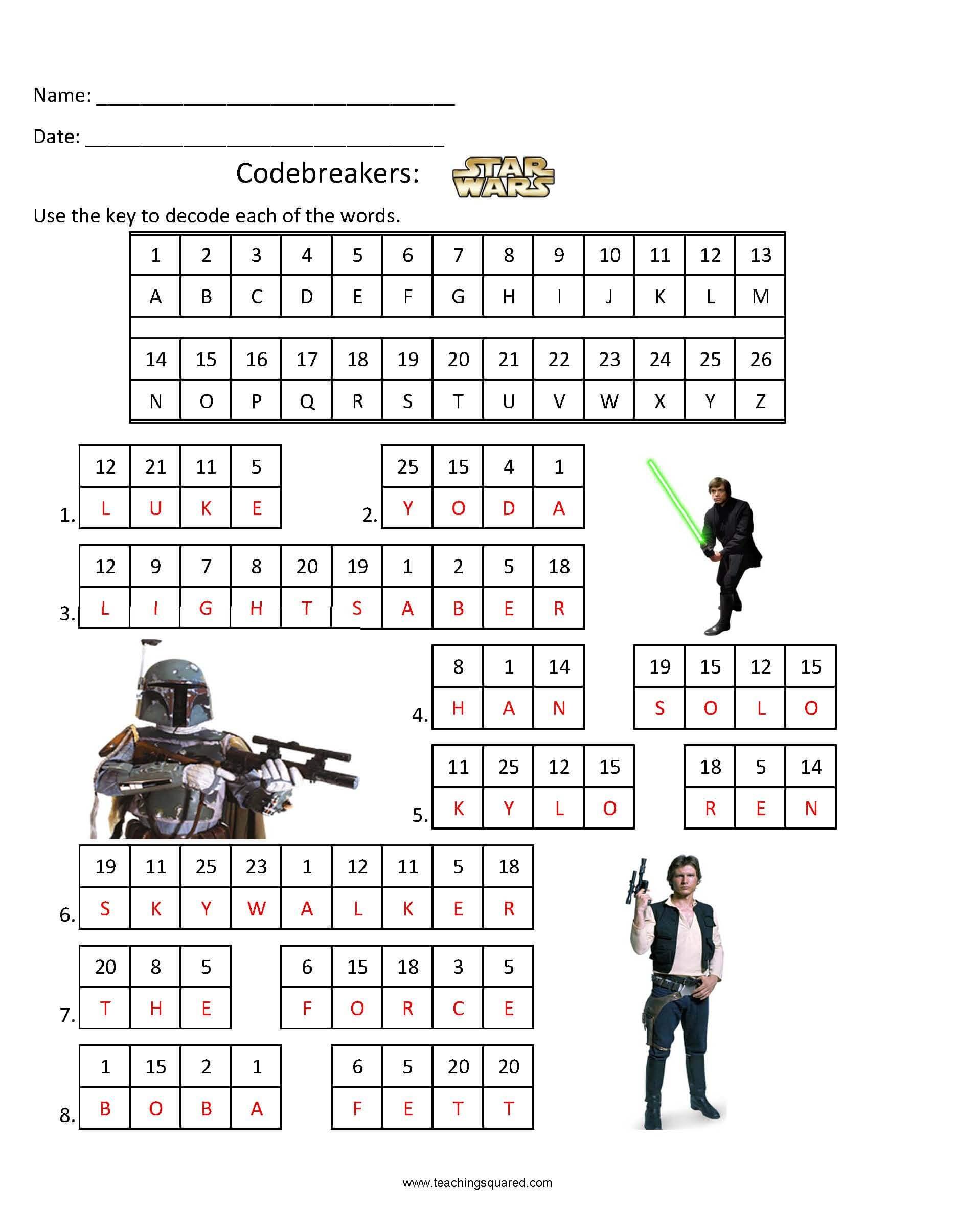 Codebreakers- Star Wars 1 - Teaching Squared