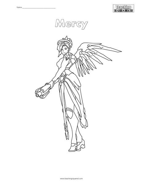 Overwatch Mercy Coloring Page