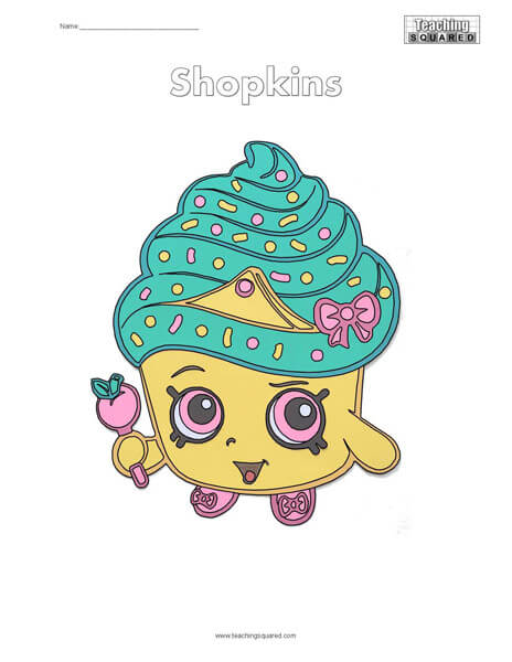Shopkins Free Coloring Page
