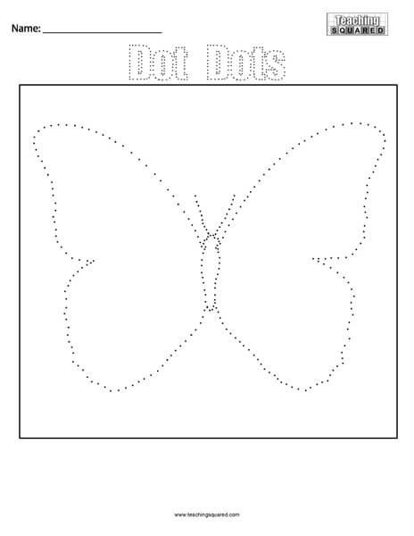 Dot Dots- Butterfly Connect the Dots