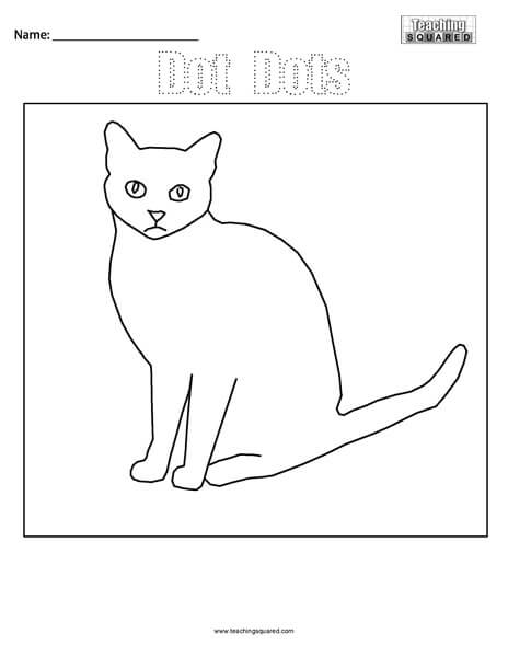 Dot Dots- Cat Connect the Dots
