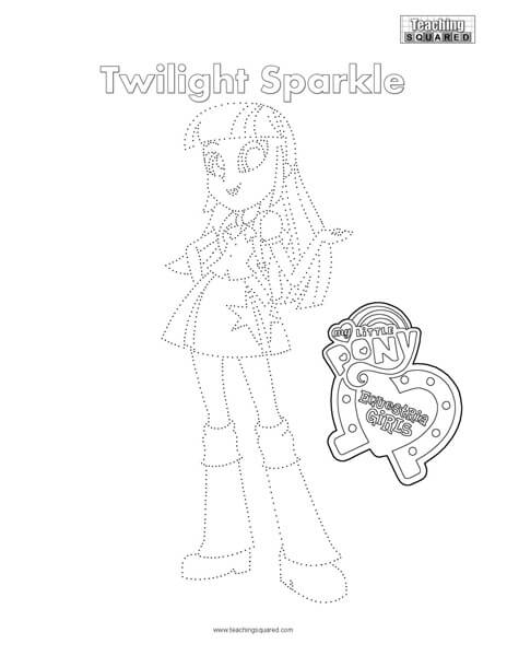Equestria Girls- Twilight Sparkle Connect the Dots