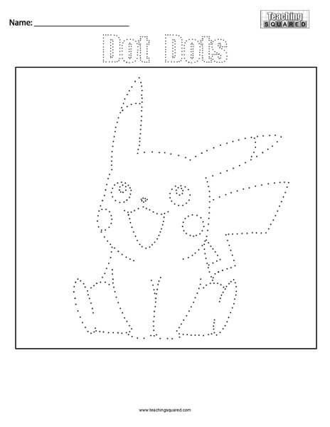 Pikachu Pokemon- Dot Dots Connect the Dots