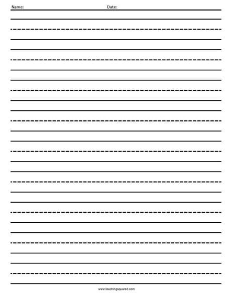 Lined Paper  Teaching Squared