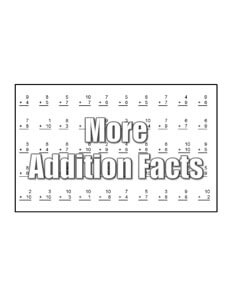 Learning Addition math worksheets teaching
