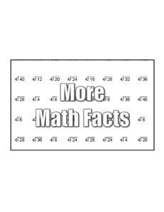 Math Fact worksheets