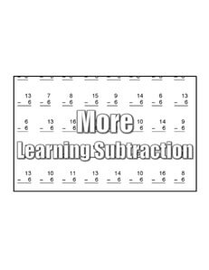 Subtracting with 2 math worksheets teaching