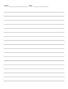 Lined Paper Wide- Writing Paper