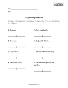 Sentence diagramming worksheets teaching squared sentence diagramming worksheets ccuart Image collections