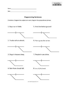 sentence diagramming worksheets teaching squared. Black Bedroom Furniture Sets. Home Design Ideas