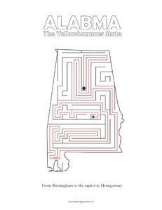 Alabama Maze game top worksheets