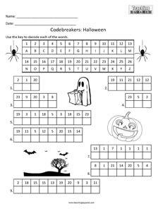 Codebreakers: Halloween top fun activity