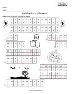 Codebreakers Halloween Fun kids activity