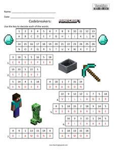 Codebreakers Minecraft Fun kids activity