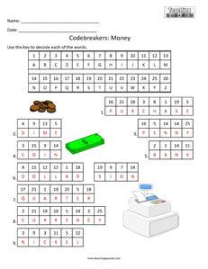 Codebreakers Money Fun kids activity