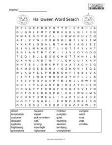 graphic relating to Halloween Word Search Puzzle Printable identify Halloween Phrase Glance - Education Squared