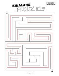 Amazing Maze- 1 game worksheets
