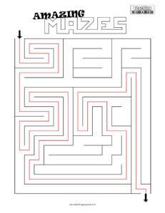 Amazing Maze- 2 game worksheets