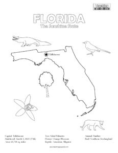 fun Florida coloring page for kids