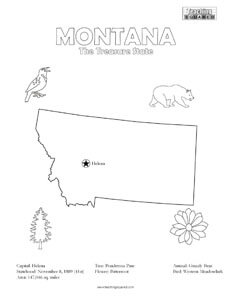 fun Montana coloring page for kids