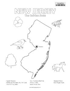 New Jersey Coloring Page