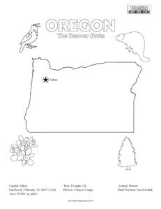 fun oregon united states coloring page for kids - Coloring Page United States