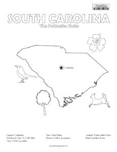 South Carolina Coloring Page