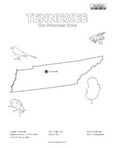 fun Tennessee coloring page for kids
