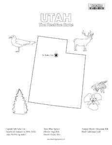 fun Utah coloring page for kids