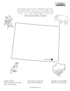 fun Wyoming coloring page for kids