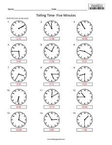 Telling Time- Quarter Hour