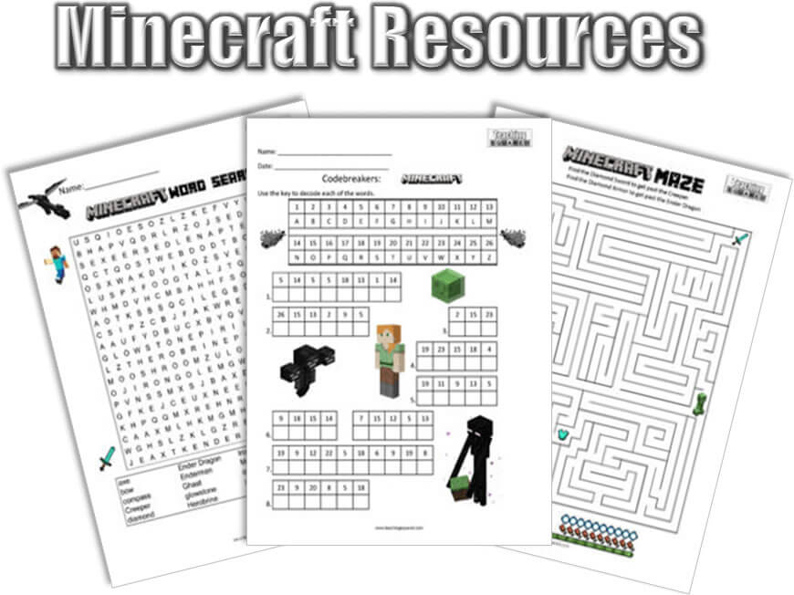 Free Minecraft Printable Resources - Teaching Squared