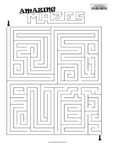fun maze game top worksheets