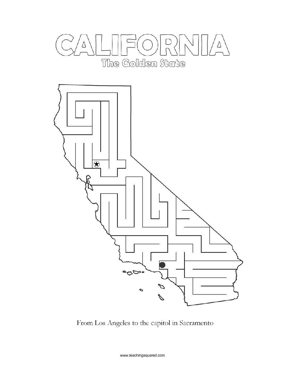 fun California maze game top worksheets